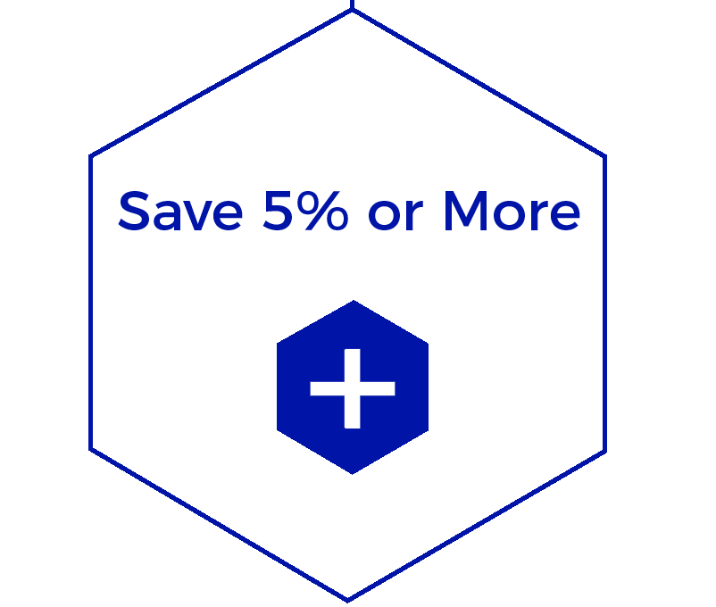 Save 5% or more graphic