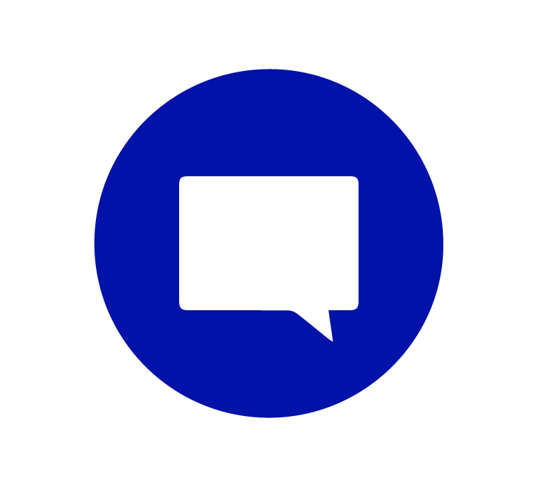 live-chat blue icon